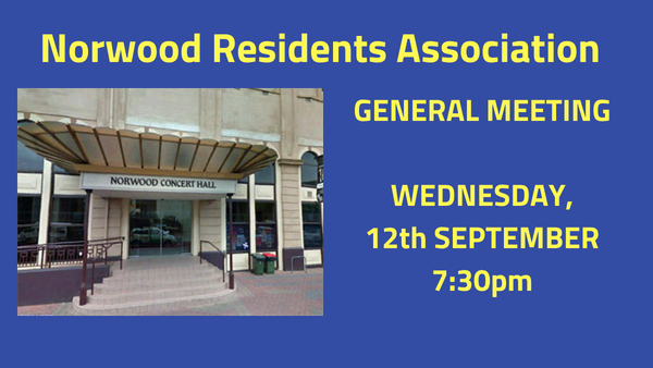 GENERAL MEETING:WEDNESDAY, 12th SEPTEMBER 7:30 pm in Don Pyatt Hall (Entrance GeorgeSt)