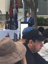 Mayor Robert Bria giving his Australia Day address.