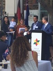 Mayor Bria & Councillor Whitington welcome new citizens