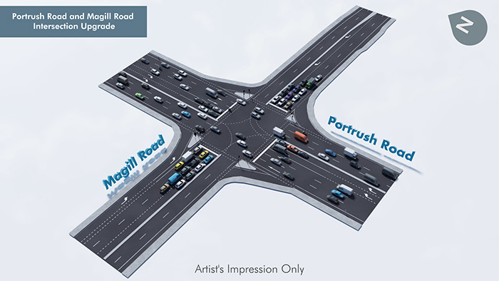 PORTRUSH ROAD AND MAGILL ROAD JUNCTIONUPGRADE