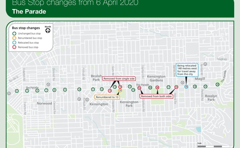 Parade and Magill Rd Bus Stop Changes